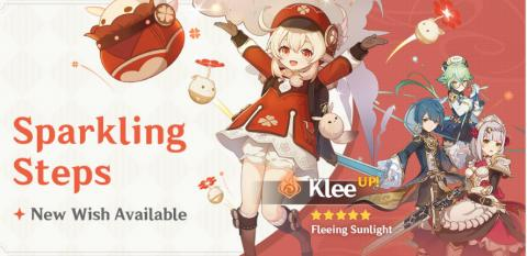 New Character: Klee & Sparkling Steps Event