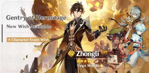 New Character: Zhongli & Gentry of Hermitage Event Wish